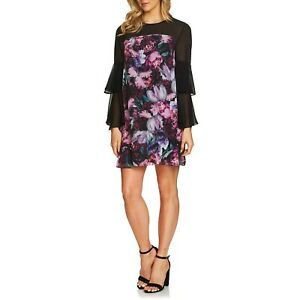 NWT-Women-Size-2-4-10-12-Nordstrom-Cece-Camille-Floral-Ruffle-Sleeve-Shift-Dress