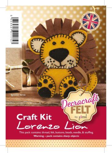 Lorenzo The Lion Decracraft Felt Craft Kit