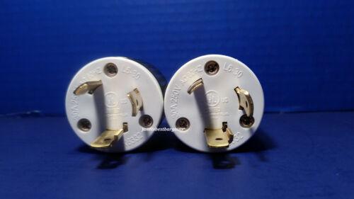 Replacement 30 Amp 250 Volt Male Twist Lock Power Cord Plug Nema L6-30P 2 Pack
