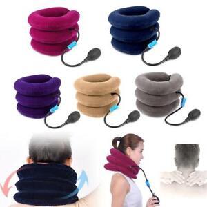 Air-Inflatable-Pillow-Cervical-Neck-Head-Traction-Soft-Brace-Device-Unit-Set-Kit
