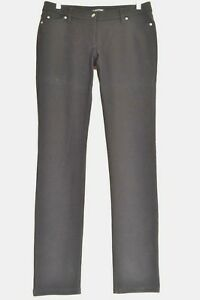 Eileen-Fisher-jeans-8-x-33-black-straight-slim-leg-smooth-viscose-blnd-stretch