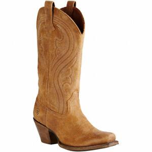 Kleidung & Accessoires Steady Ariat Damen Lively Us 7 Eu 37,5 Western Cowboy Quadratische Zehe Braune Stiefel High Resilience Damenschuhe