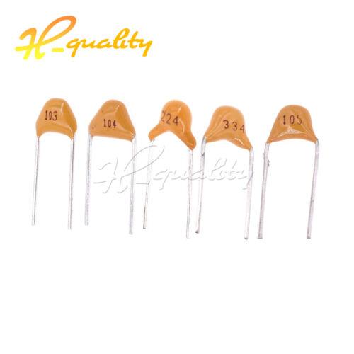 50//100PCS 0.01//0.1//0.22//0.33//1UF Multilayer Monolithic Ceramic Capacitor