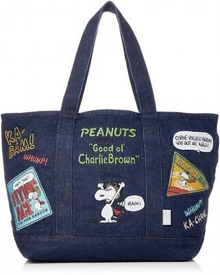Peanuts SNOOPY ROOTOTE Denim Tote Bag SC Flying Ace Fast Shipping From Japan EMS | eBay