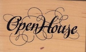open-house-psx-Wood-Mounted-Rubber-Stamp-2-1-2-x-1-3-4-034-Free-Shipping