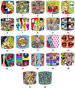 Idéal Pour Assorti Pop Art Coussins /& Housses Pop Art Modèles Abat-Jour