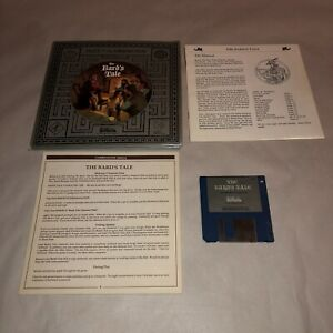 RARE Commodore Amiga Game THE BARD'S TALE ICONIC Adventure Game UNTESTED