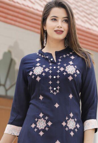 Indian Straight Kurta Kurti Traditional Sharara Stylish Salwar Kameez Top Combo