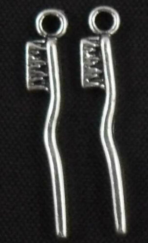 Wholesale 25//55Pcs Tibetan Silver (Lead-Free)Toothbrus Charms 3.5x29.5mm