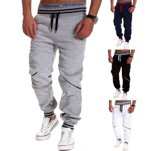 Casual Men Gym Tracksuit Bottoms Stripe Jogging Trousers Joggers Sweat Pants
