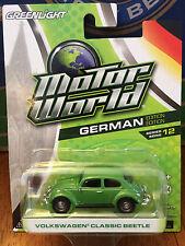 Greenlight MOTOR WORLD series 12  Volkswagen Classic Beetle    green