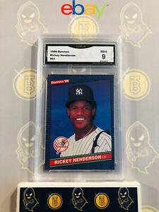 1986-Donruss-Rickey-Henderson-51-9-MINT-GMA-Graded-Baseball-Card