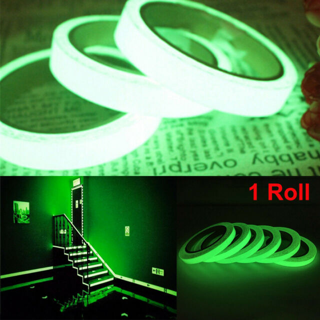 1* Glow In The Dark Luminous Fluorescent Night Self-adhesive Safety Sticker Tape