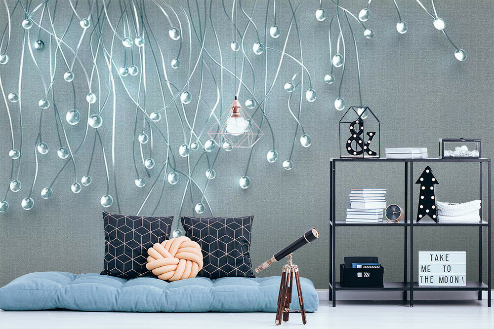 3D bluee Pendant Beads 263 Wall Paper Exclusive MXY Wallpaper Mural Decal Indoor