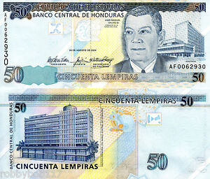 Image Is Loading Honduras 50 Lempira Banknote World Money Currency Bill
