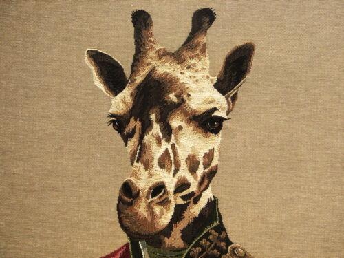 """Nouveau 18/"""" aristofari Girafe Belge Tapisserie Housse de Coussin avec fermeture à glissière 5321"""