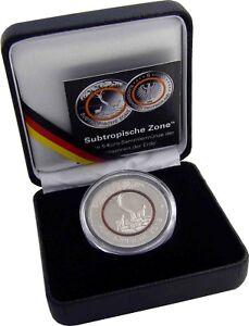 Deutschland 5 Euro Subtropische Zone 2018 bfr Münze im Etui mit Zertifikat