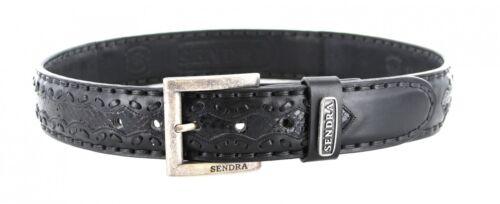 Sendra Boots 8347 Python Schwarz Ledergürtel Wechselgürtel