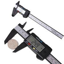 6 150mm Carbin Fiber Electronic Digital Vernier Caliper Micrometer Guage Lcd