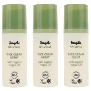 SET 3x Douglas Naturals Gesichtscreme Arganöl MU0009 Nachtcreme 50 ML