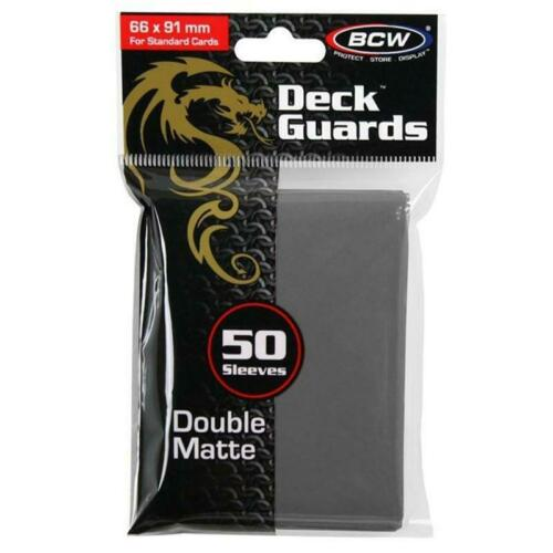 Gray 50 New BCW Card Sleeves  Double Matte Card Sleeves