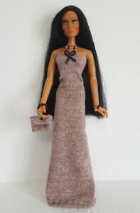 Dress-beaded-Purse-and-Jewelry-Handmade-clothes-4-vintage-Mego-Cher-NO-DOLL-d4e