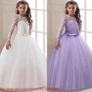 Communion-Party-Prom-Princess-Pageant-Bridesmaid-Wedding-Flower-Girl-Dress-O125