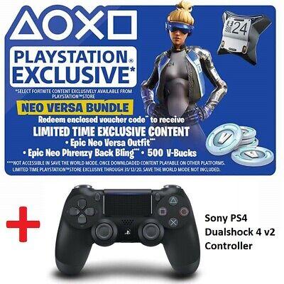 PS4 Dualshock 4 v2 Fortnite Bundle Epic Neo Versa Outfit Back Bling 500  V-Bucks | eBay