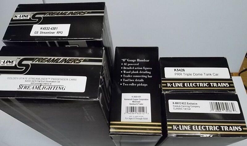 LOT 5 K-line O SCALE TRAIN Cars K4532 K4532 K-2625 K5426 K-90012 Collector grade