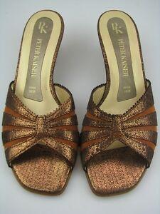 PETER-KAISER-femmes-sandales-en-cuir-look-serpent-marron-Gr5-5