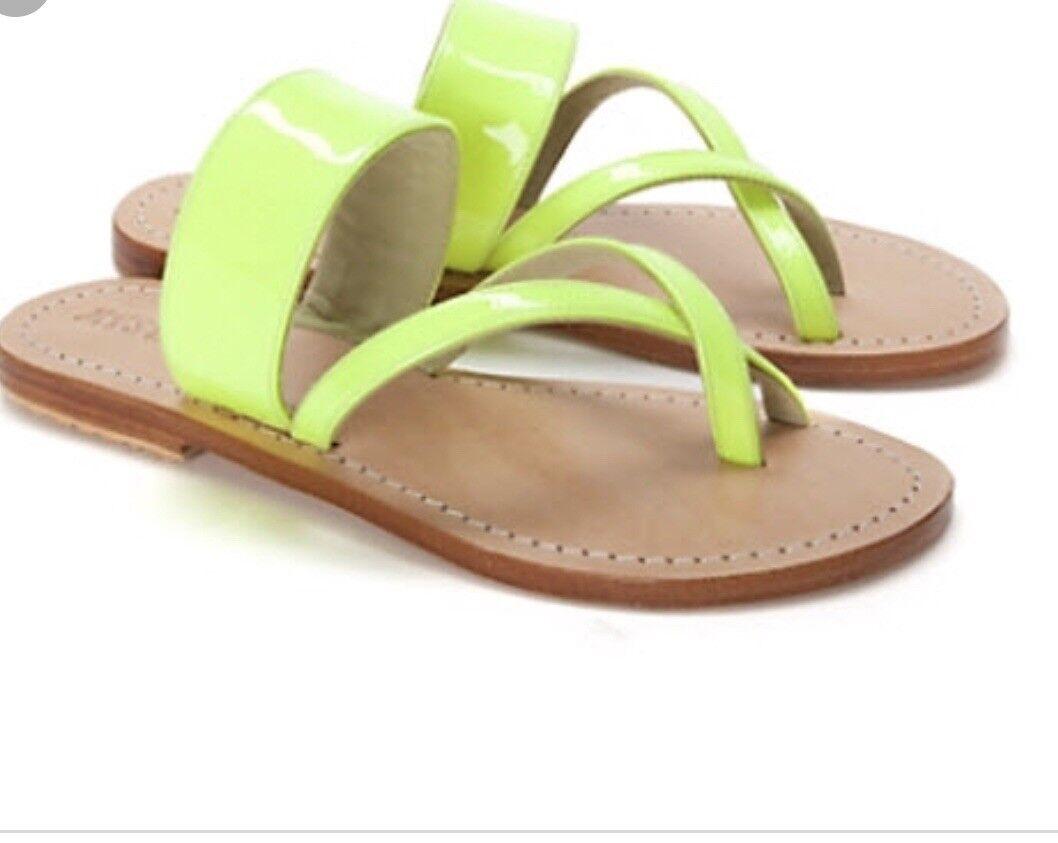 Mystique Sandals (8) Neon Yellow, Worn Once 1 Hour