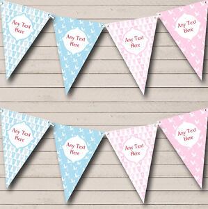 37a3fab7345e Blue Pink Boy And Girl Welcome Home New Baby Bunting Banner Garland ...