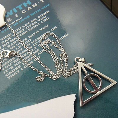 Hot  Movie Harry potter -deathly hallows metal necklace pendant as Fashion Gift