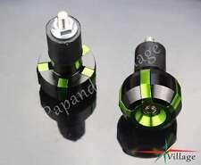 "7/8"" Motorcycle Sliders Handle Bar Ends Caps Plugs For Kawasaki KX KXF KDX Green"