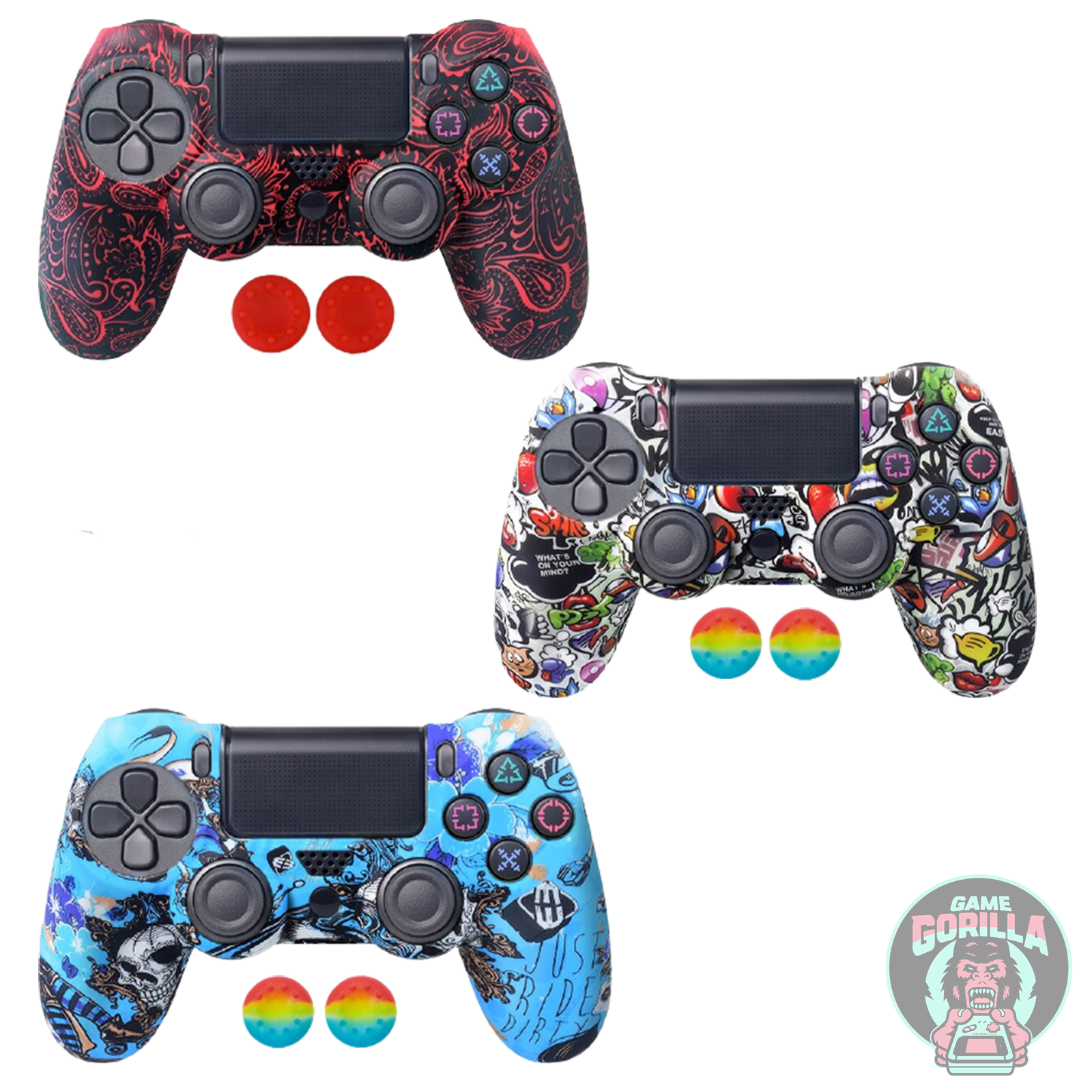 PS4 Silicone Skin Protective Controller Cover for PlayStation 4 / Slim / Pro