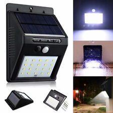 20 LED Solar Light Power Motion Sensor Outdoor Garden Security Waterproof Lamps