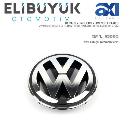 VW PASSAT CC JETTA TIGUAN FRONT RADIATOR GRILL EMBLEM 150 MM 1K5853600