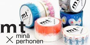 mT Masking Tape Japanese Washi Tape  30mmx10m   mina perhonen hana hane GRAY