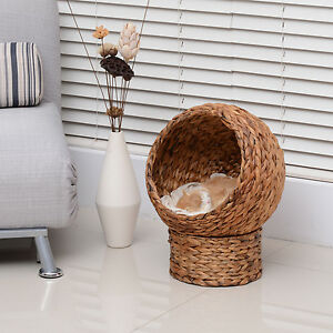 Rattan Elevated Cat House
