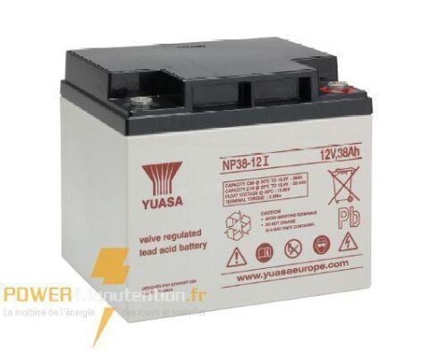 Batterie portail yuasa NP38-12 12V 38ah  197X175X170MM