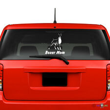 Boxer Mom Windshield Sticker Vinyl Auto Window v2