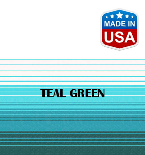 """Carefree Teal Faulkner 12/' RV Awning Replacement Fabric for A/&E 11/'3/"""""""