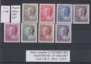 8-timbres-du-LUXEMBOURG-Neufs-de1965-66-Serie-complete-tres-bon-etat