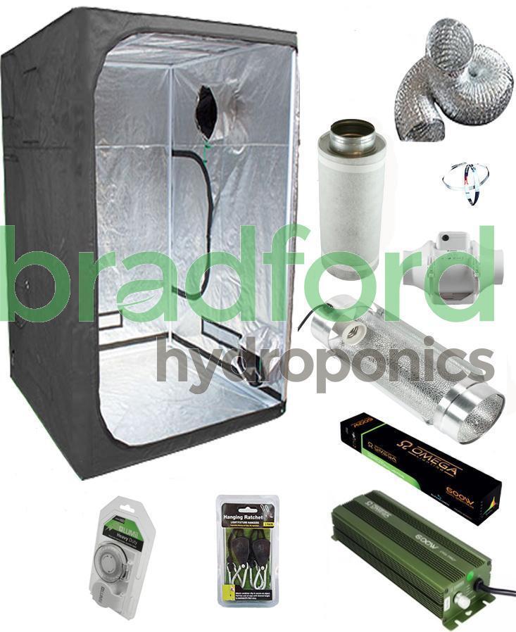 Crecer Kit Tienda 600w Digital 6  Cooltube Luz Ventilador Fiter 1m X 1m X 2m