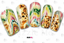 Calcomanías de transferencia de Agua Pegatina de Arte en Uñas Arte Creativo la piel de leopardo (DC154)