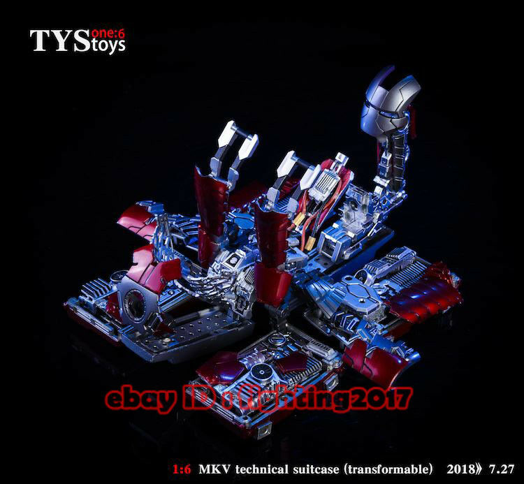 TysJuguetes 1 6 escala Iron Man MK5 MKV técnico maleta Transformable En Existencias