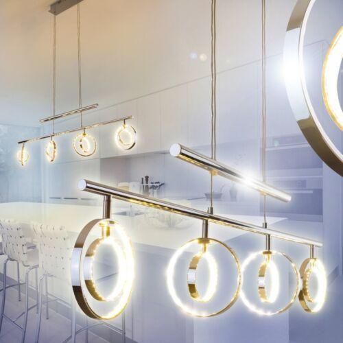 Hängelampe LED Design Ess Leuchten Küchen Wohn Zimmer Lampe Pendelleuchte Chrom