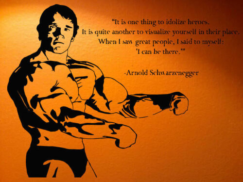 Wall Decal Room Sticker Muscle Man Mural Quote Weight Sport Bodybuilding bo2965