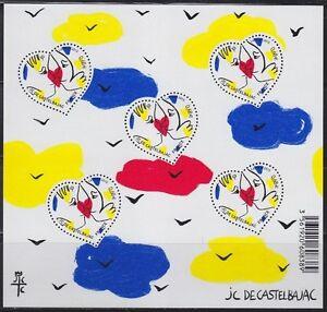 France-2015-Bloc-feuillet-Coeur-heart-Saint-Valentin-Valentine-039-s-Day-Neuf-new