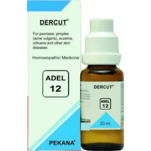 Details about Adel 12 DERCUT Homeopathy Drops Homeopathic Medicine 20ML  free shipping